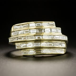 Five-Row Baguette Diamond Band Ring - 1
