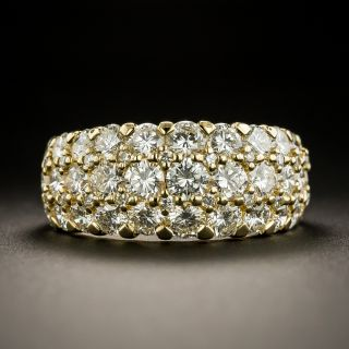 Estate Three-Row Diamond Band - 1