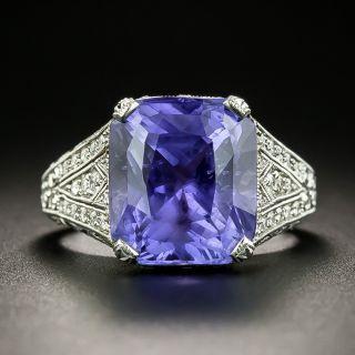 10.29 Carat Color-Change Sapphire Ring - 2