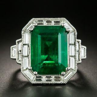 10.72 Carat Emerald and Diamond Ring - 2