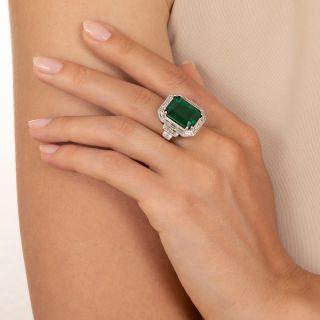 10.72 Carat Emerald and Diamond Ring