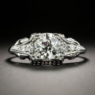 Art Deco .85 Carat Diamond Engagement Ring - 1