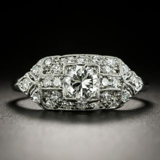 Late Art Deco .50 Carat Diamond Engagement Ring by Granat Brothers - 1