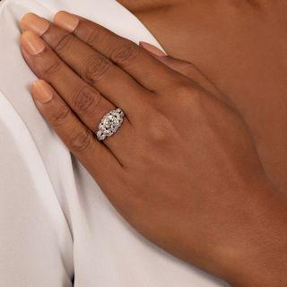Art Deco 1.32 Carat Diamond Engagement Ring - GIA H SI2