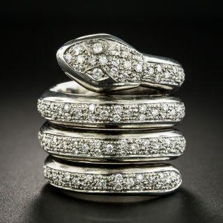 Diamond Coiled Snake Ring - 1