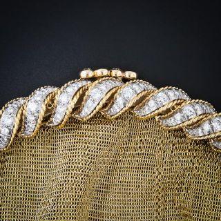 10 Carat Diamond and Gold Mesh Purse