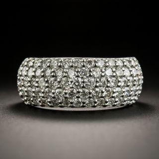 Estate Wide Pave Diamond Band - 1