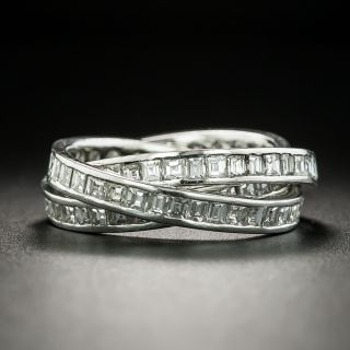 Diamond and Platinum Triple Rolling Ring[s] - 1