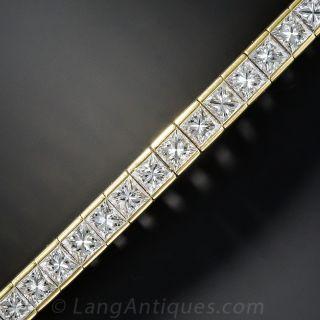 13.00 Carat Princess-Cut Diamond Bracelet  - 1