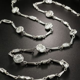 15.50 Carat Diamonds By the Yard 36 Inch Necklace  - 3