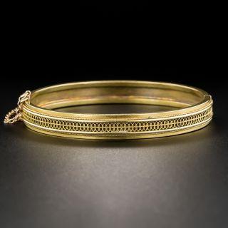 15K English Victorian Bangle Bracelet.