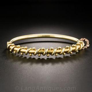 15K Victorian Bangle Bracelet