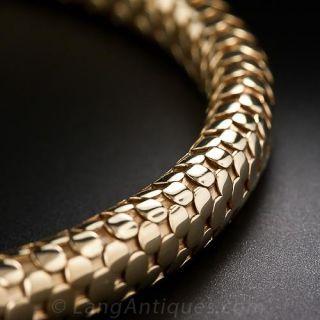18 Karat Spring Gold Choker