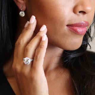 8.07 Carat European-Cut Diamond Engagement Ring by Hancocks of London - GIA I VS1