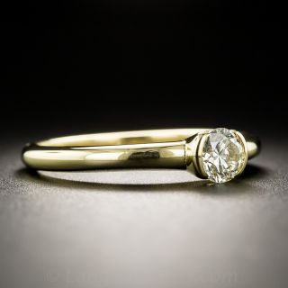 18K Yellow Gold .45 Carat Diamond Solitaire Ring