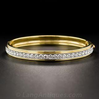 18K and Platinum Diamond Bangle Bracelet