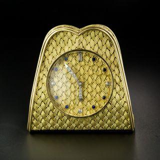 18K Desk Clock by Meister of Zurich