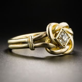 18K Diamond Knot Ring