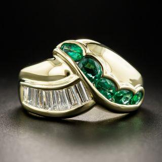 18K Emerald Diamond Ring - 1
