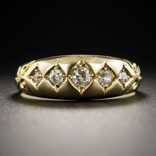 18K English Victorian Five-Stone Diamond Ring