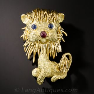 18K Lion Brooch by Peter Lindeman