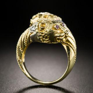 18K Lioness Ring - Italian