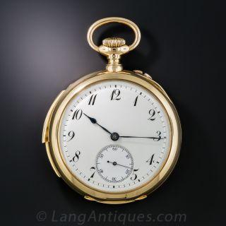 18K Minute Repeater Pocket Watch by G. Braillard - 1