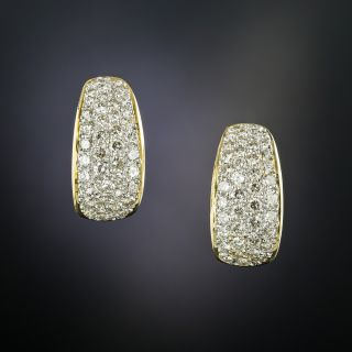 18K Pavé Diamond Earrings - 1