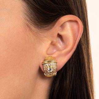 Estate Diamond Earrings