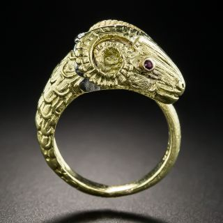 18K Ram's Head Ring