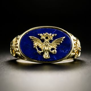Imperial Eagle Lapis Ring by the Franklin Mint - 2