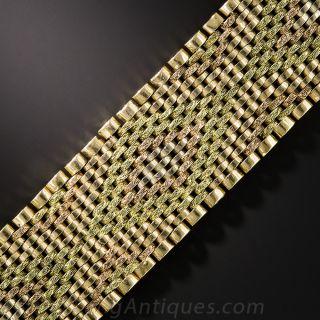 18K Tri-Color Gold Mesh Bracelet