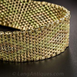 18K Tri-Color Gold Mesh Bracelet - 3