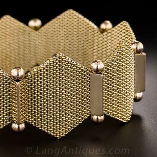 18K Two-Tone Hexagonal Link Mesh Bracelet - 3