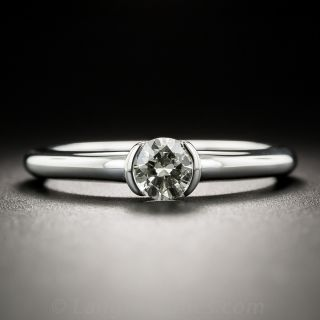 18K White Gold .45 Carat Solitaire Ring - 1
