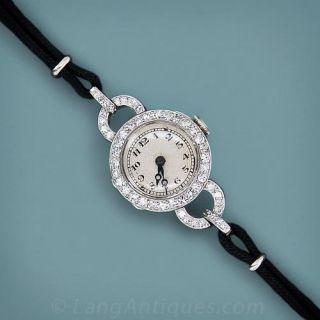 1920's Diamond and Platinum Dress Watch