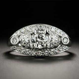 1940s Diamond Palladium Engagement Ring - Granat Brothers - 1