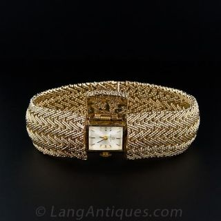 1950's Woven Bracelet with Hidden Watch