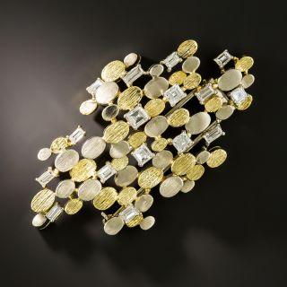 1960's Abstract Diamond Brooch - 2