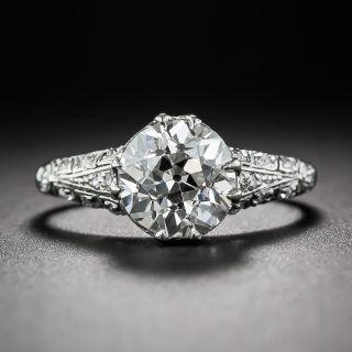 2.00 Carat European-Cut Diamond Antique Engagement Ring GIA G-VS2