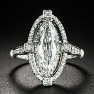2.00 Carat Marquise Diamond Platinum Engagement Ring - GIA F VS1 - 2