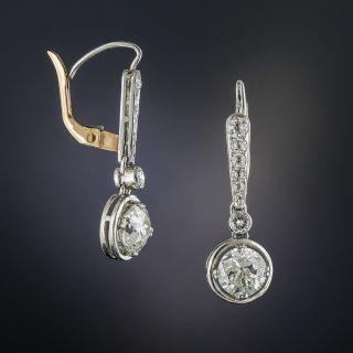 2.00 Carat Platinum Diamond Drop Earrings