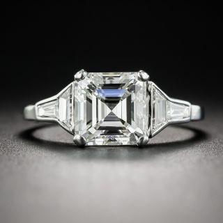 2.00 Carat Square Emerald-Cut Platinum Diamond Ring - GIA I VS2 - 1
