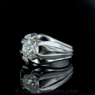 2.00 ct. Cushion Diamond Gents Ring