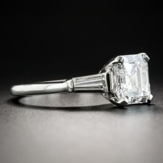 2.01 Carat Emerald-Cut Diamond Engagement Ring - GIA D VVS1