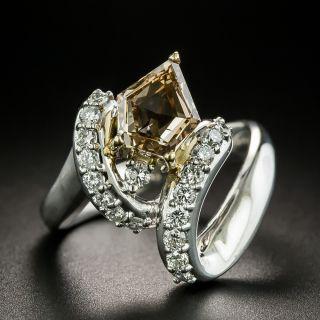 2.01 Carat Natural Fancy Yellowish Brown Diamond Ring - GIA SI1 - 2
