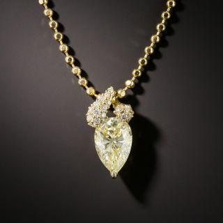 2.01 Carat Pear-Shaped Diamond Drop - 1