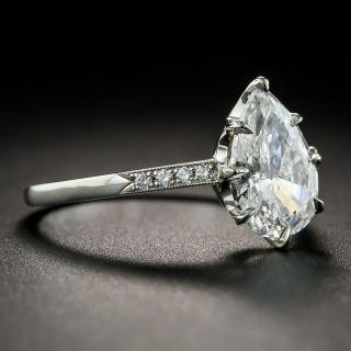 2.01 Pear Shape Diamond Platinum Engagement Ring -  GIA F I1