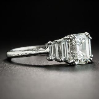 2.02 Carat Emerald-Cut Diamond Platinum Engagement Ring - GIA J VS1