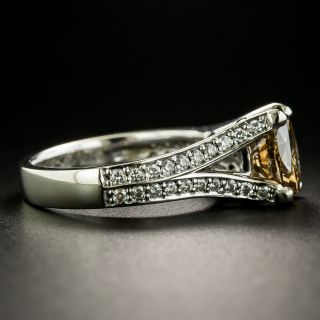 2.02 Carat Natural Fancy Dark Yellowish Brown Oval Diamond Ring - GIA